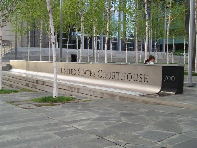 US Federal Courthouse sign, Seattle, WA