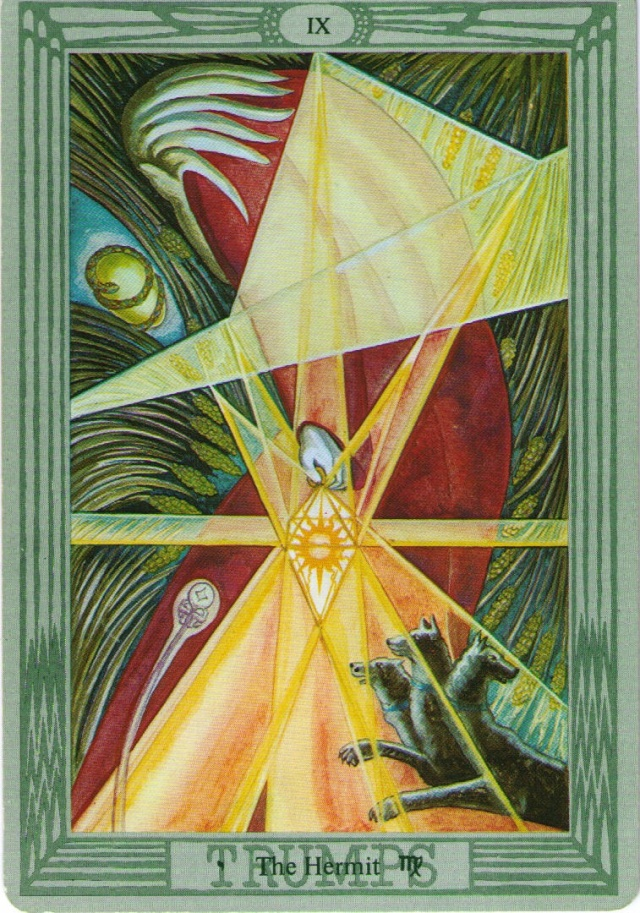 The Hermit from the Thoth Tarot